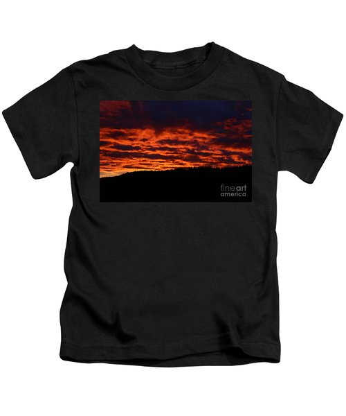 Red Sky In The Morning Kids T-Shirt