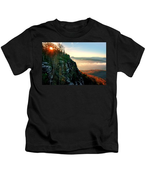 Red Sun Rays On The Lilienstein Kids T-Shirt