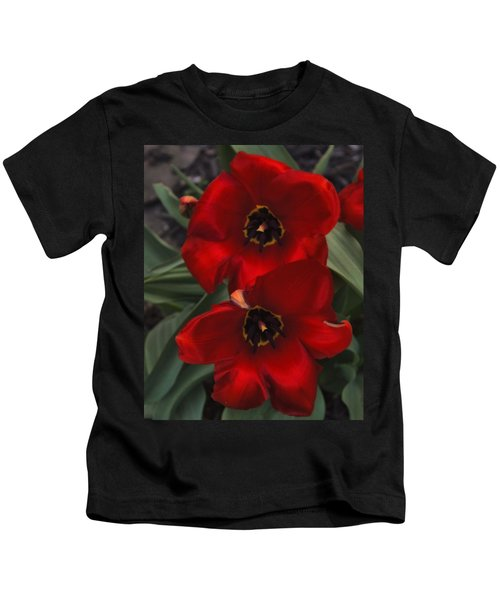 Red Tulip Pair Kids T-Shirt