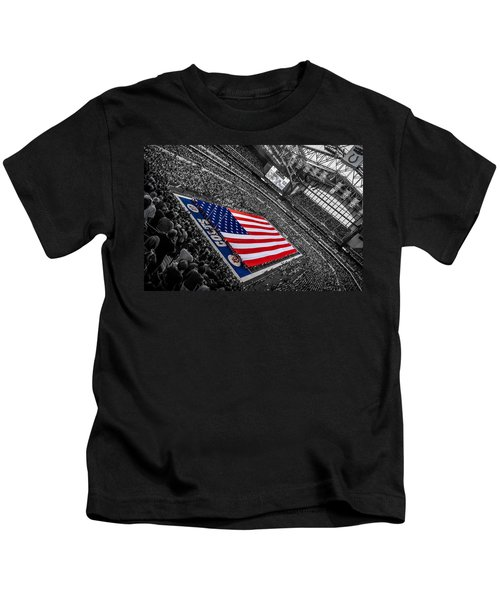 Red White And Blue Kids T-Shirt