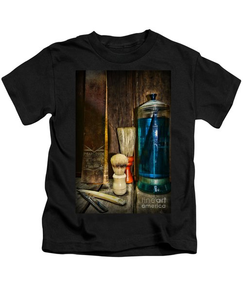 Retro Barber Tools Kids T-Shirt
