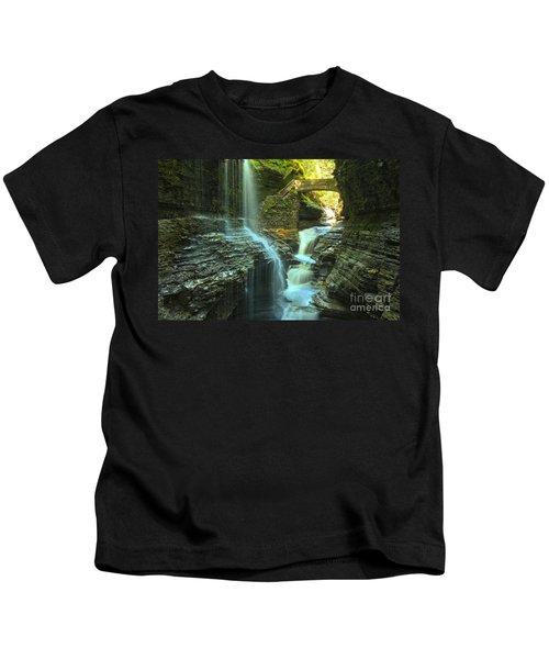 Rainbow Falls Watkins Glen Kids T-Shirt