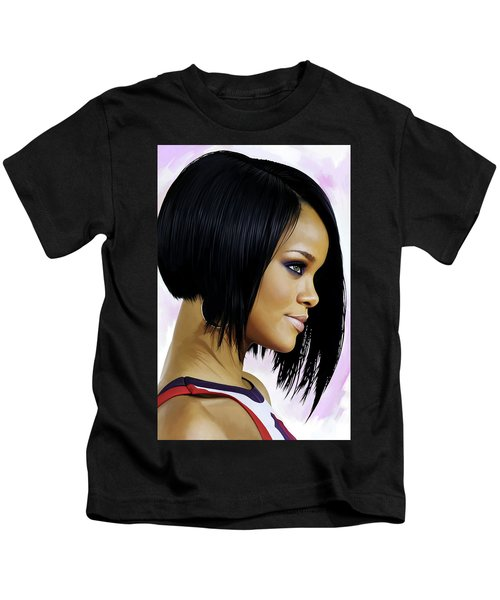 Rihanna Artwork Kids T-Shirt