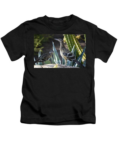 Roadrunners At Play  Kids T-Shirt by Saija  Lehtonen