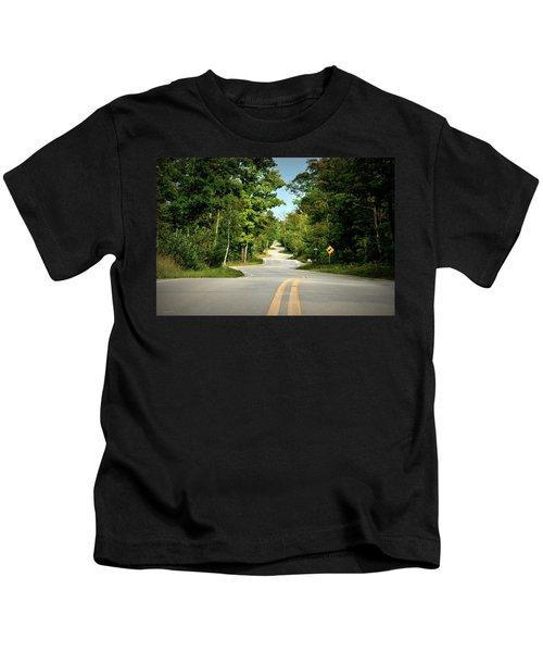 Roadway Slalom Kids T-Shirt