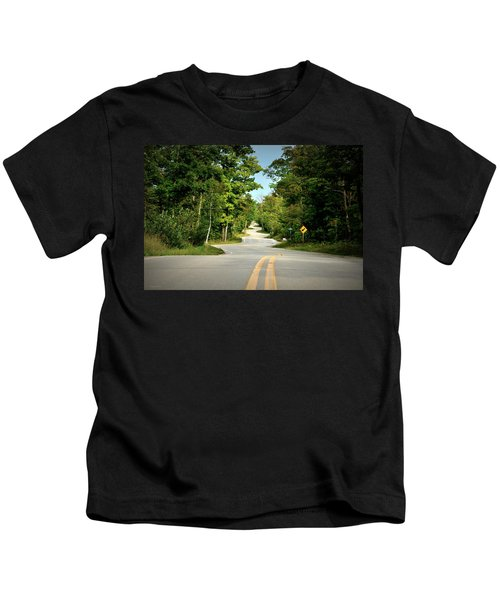 Roadway Slalom Kids T-Shirt