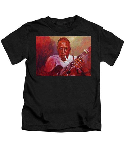 Robert Johnson Photo Booth Portrait Kids T-Shirt