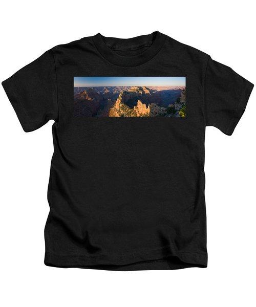 Rock Formations At A Canyon, North Rim Kids T-Shirt