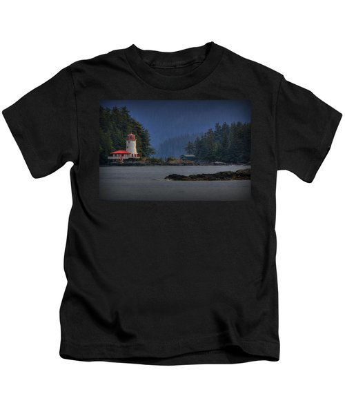 Rockwell Lighthouse Sitka Alaska Kids T-Shirt