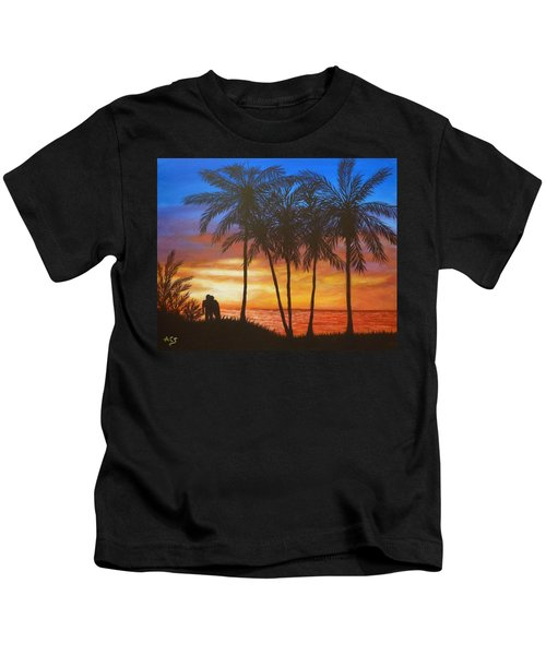 Romance In Paradise Kids T-Shirt