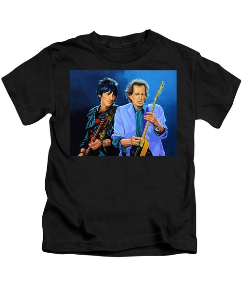 Ron Wood And Keith Richards Kids T-Shirt