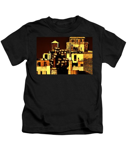 Roof Yellow Orange Kids T-Shirt