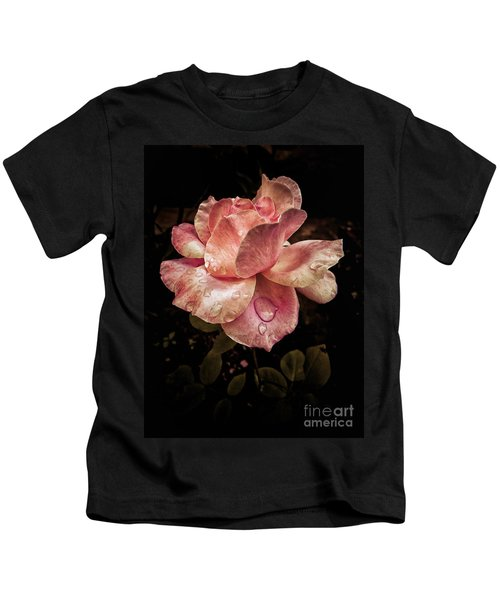 Rose Petals With Raindrops Kids T-Shirt
