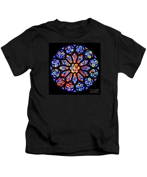 Rose Window Of Grace Cathedral By Diana Sainz Kids T-Shirt