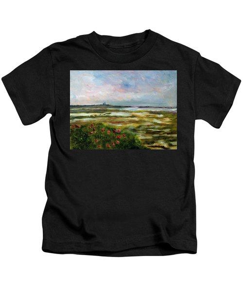 Roses Over The Marsh Kids T-Shirt