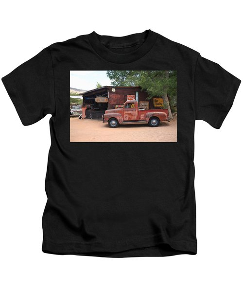 Route 66 Garage And Pickup Kids T-Shirt