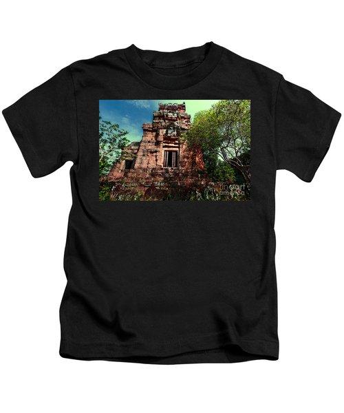 Ruin At Angkor Kids T-Shirt