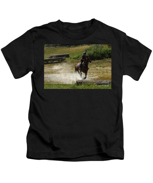 Running Thru Water  Kids T-Shirt