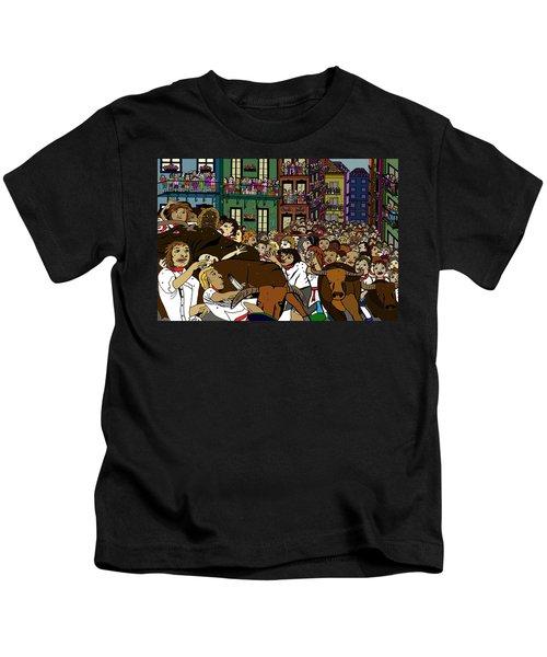 Running With The Bulls 1 Kids T-Shirt