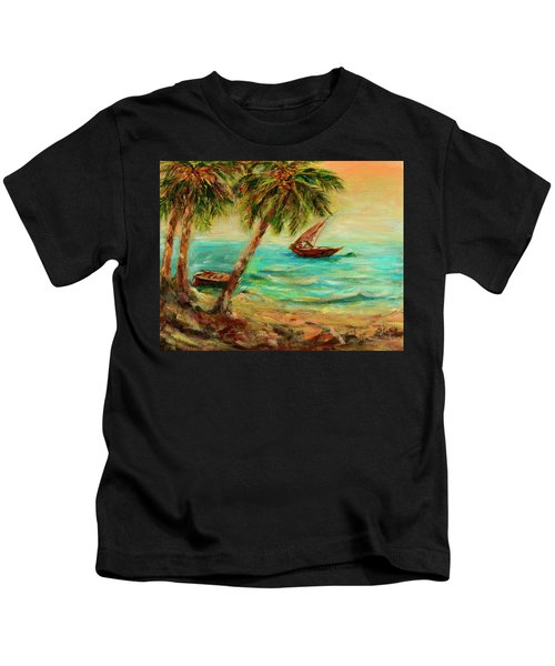 Sail Boats On Indian Ocean  Kids T-Shirt