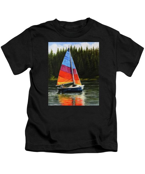 Sailing On Flathead Kids T-Shirt