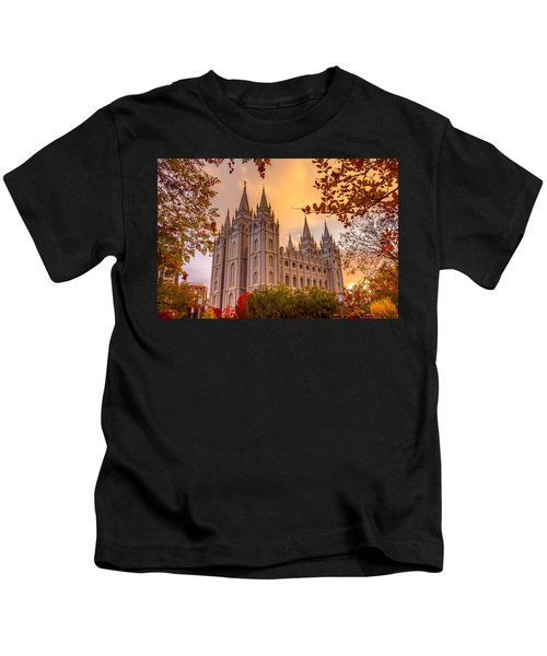 Salt Lake City Temple Kids T-Shirt