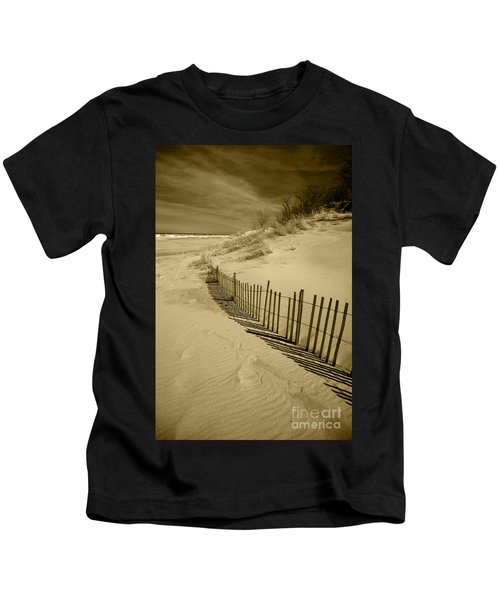 Sand Dunes And Fence Kids T-Shirt