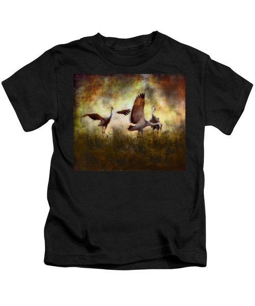 Sandhill Cranes  Kids T-Shirt