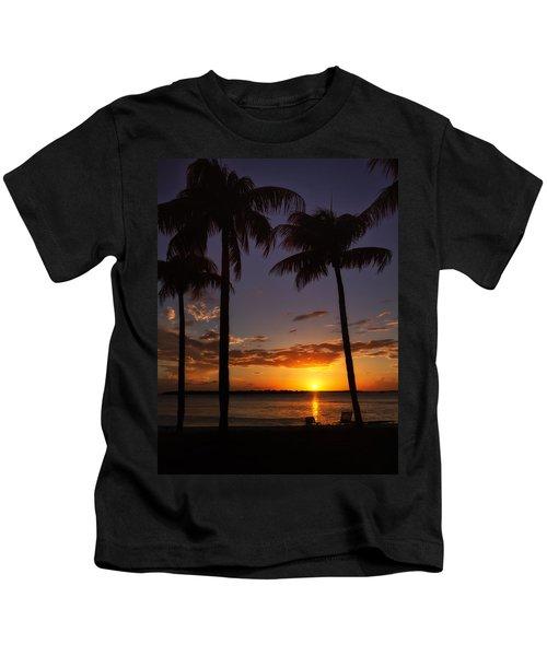 Sanibel Island Sunset Kids T-Shirt