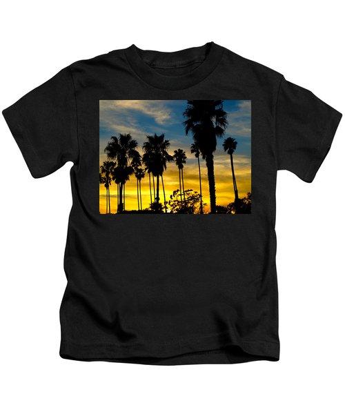 Santa Barbara Sunset Kids T-Shirt