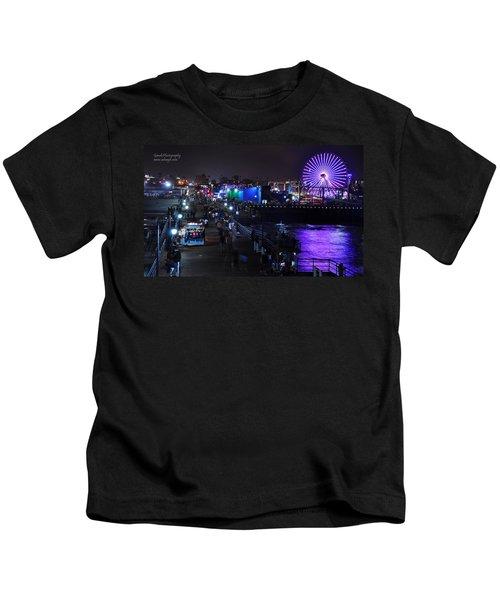 Santa Monica Pier 5 Kids T-Shirt