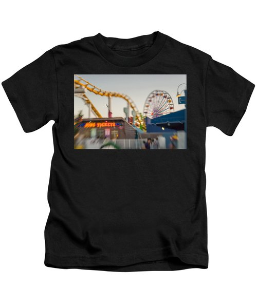 Santa Monica Pier Ride Entrance Kids T-Shirt