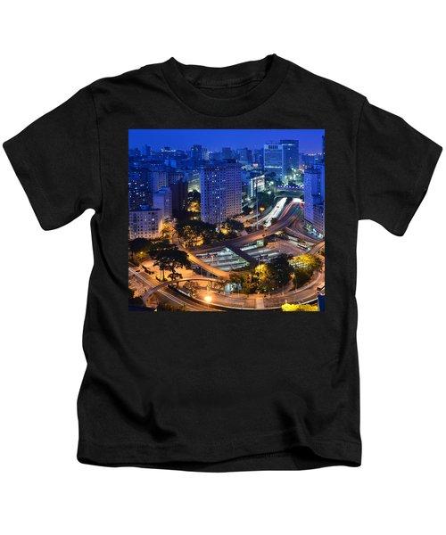 Sao Paulo Skyline - Downtown Kids T-Shirt