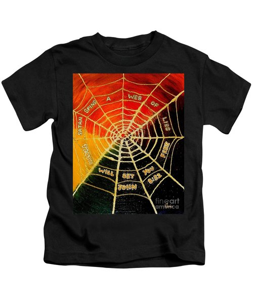 Satan's Web Of Lies Kids T-Shirt
