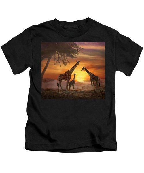 Savanna Sunset Kids T-Shirt