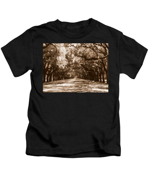 Savannah Sepia - The Old South Kids T-Shirt
