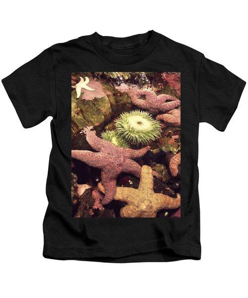 Sea Anemones And Starfish Kids T-Shirt