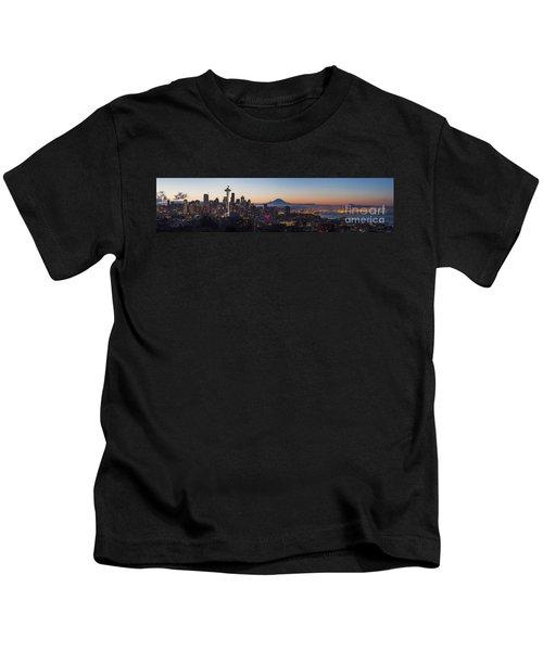 Seattle Morning Glow Kids T-Shirt