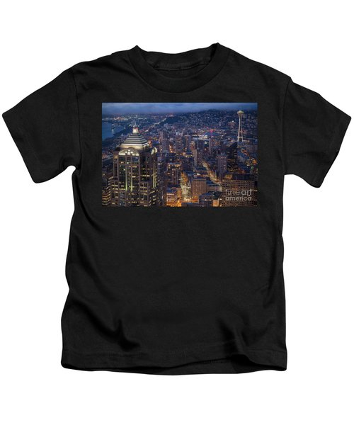 Seattle Urban Details Kids T-Shirt by Mike Reid