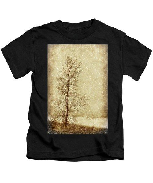 Sentinel Tree In Winter Kids T-Shirt