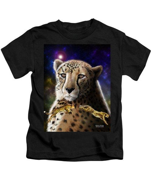First In The Big Cat Series - Cheetah Kids T-Shirt