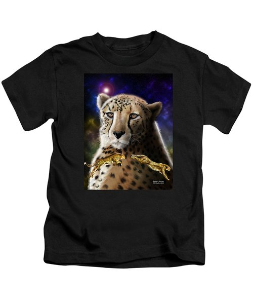 First In The Big Cat Series - Cheetah Kids T-Shirt