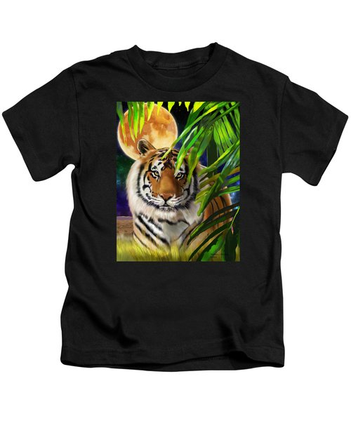 Second In The Big Cat Series - Tiger Kids T-Shirt