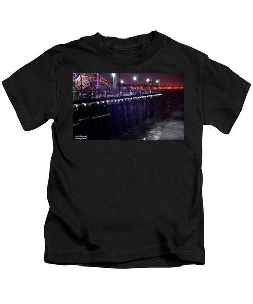 Side Of The Pier - Santa Monica Kids T-Shirt