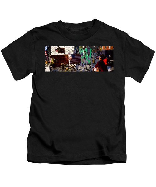 Side Profile Of A Woman Standing Kids T-Shirt
