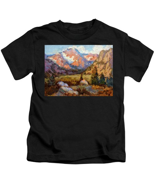 Sierra Nevada Mountains Kids T-Shirt