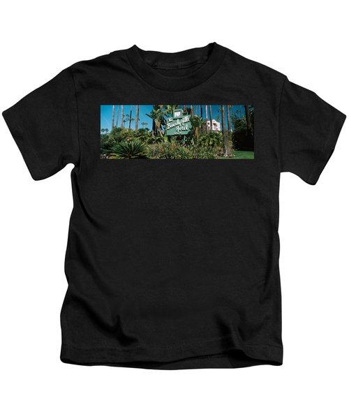 Signboard Of A Hotel, Beverly Hills Kids T-Shirt