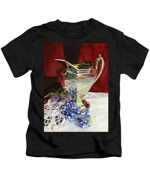 Silver Pitcher And Bluebonnet Kids T-Shirt