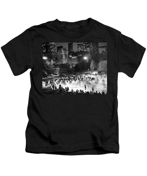 New York City - Skating Rink - Monochrome Kids T-Shirt