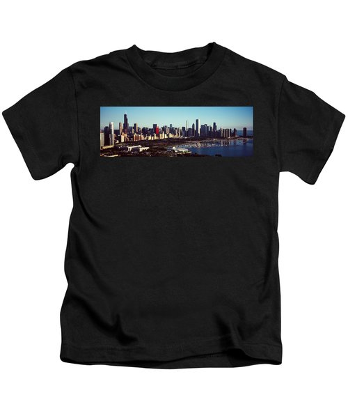Skyscrapers At The Waterfront, Hancock Kids T-Shirt by Panoramic Images